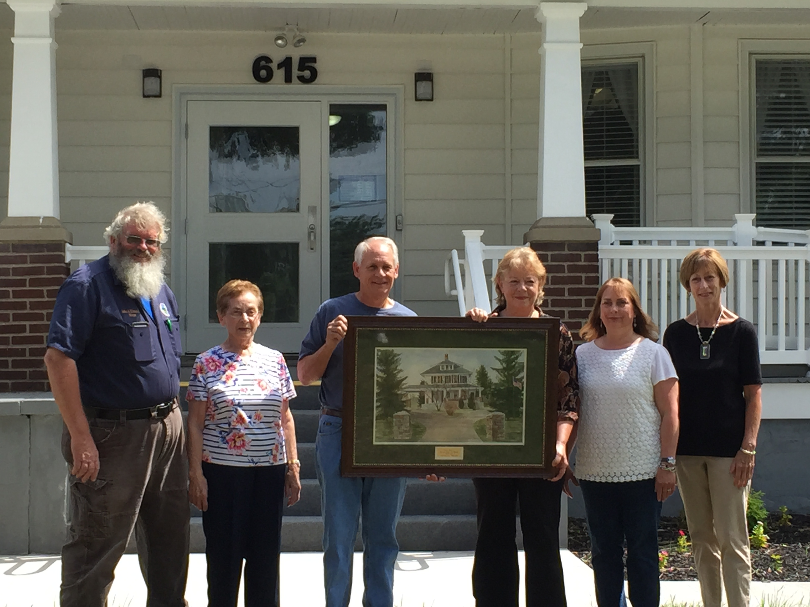 Mayor John Kinnaird with James Black family and Artist Rebecca Pearl 7-15-15