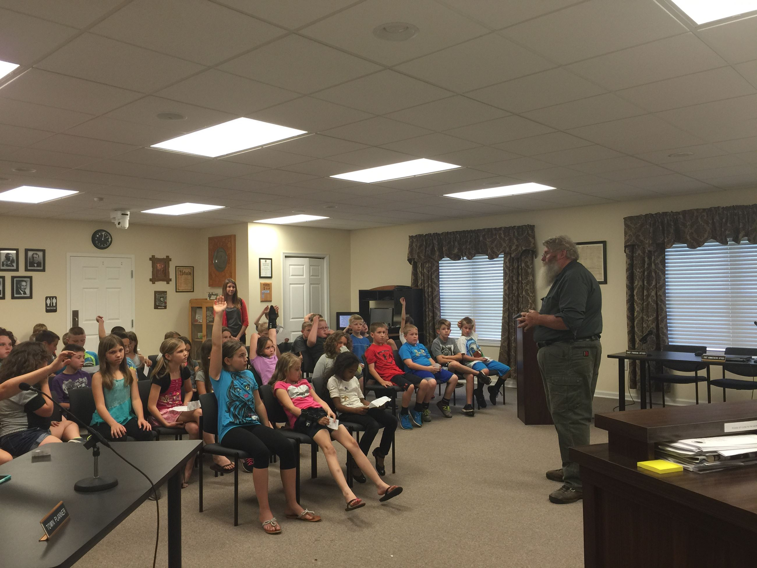 Thurmont Elementary Visit with Mayor 6/8/16